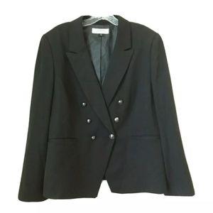 Tahari | Black Double Breasted Blazer Sz 18